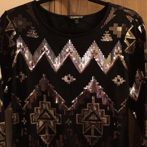 Gorgeous shimmery dress by Express size M